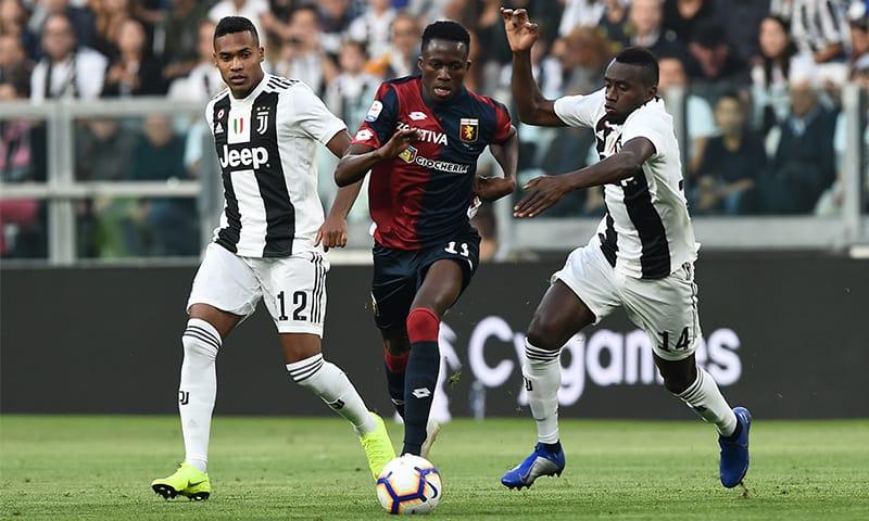 Christian-Kouame'-Alex-Sandro-Blaise-Matuidi-Juventus-Genoa