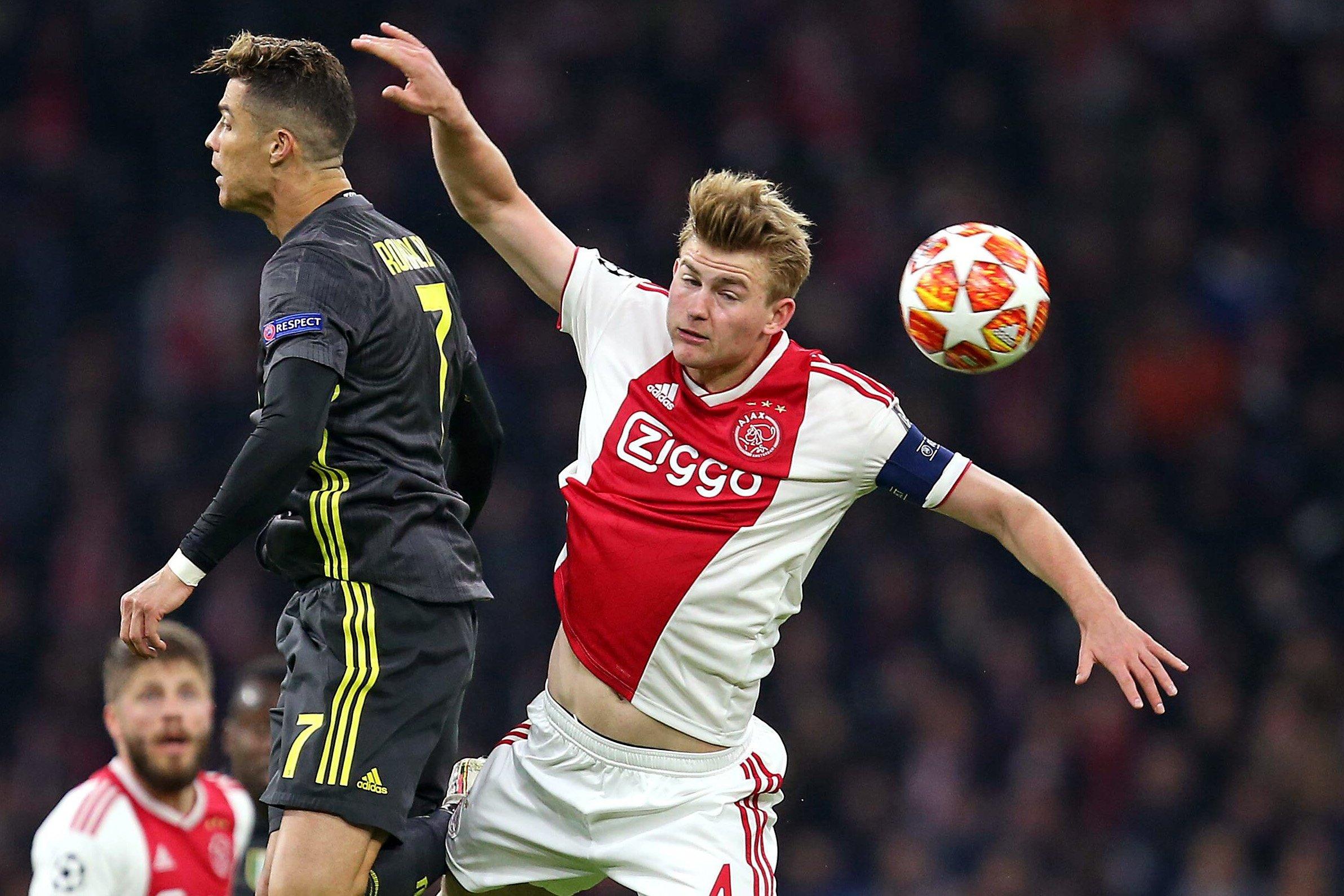 Cristiano Ronaldo-Matthijs de Ligt Ajax-Juventus