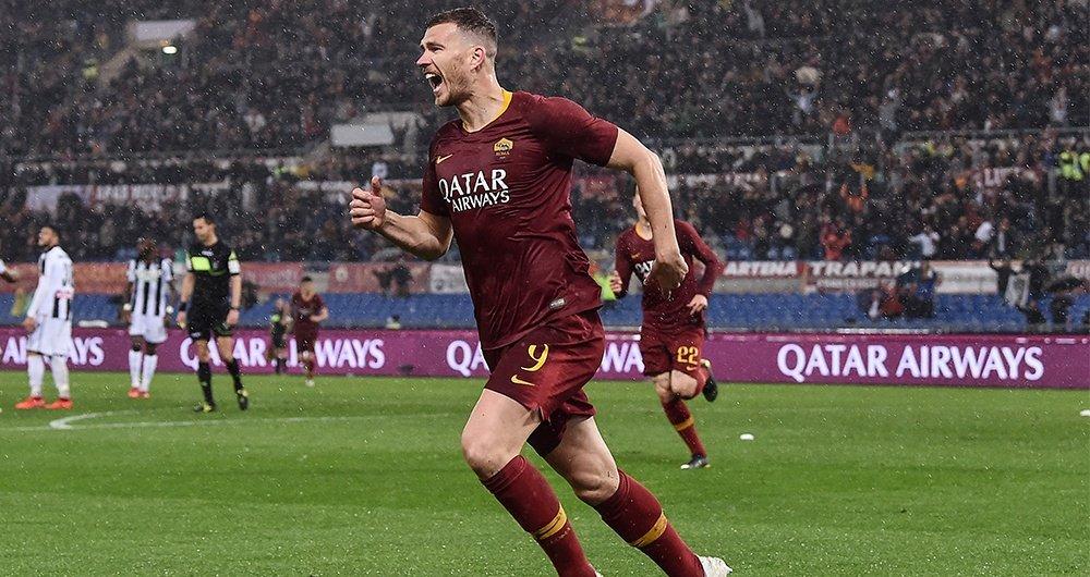 Esultanza-gol-Edin-Dzeko-Roma