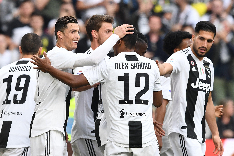 Esultanza giocatori Juventus