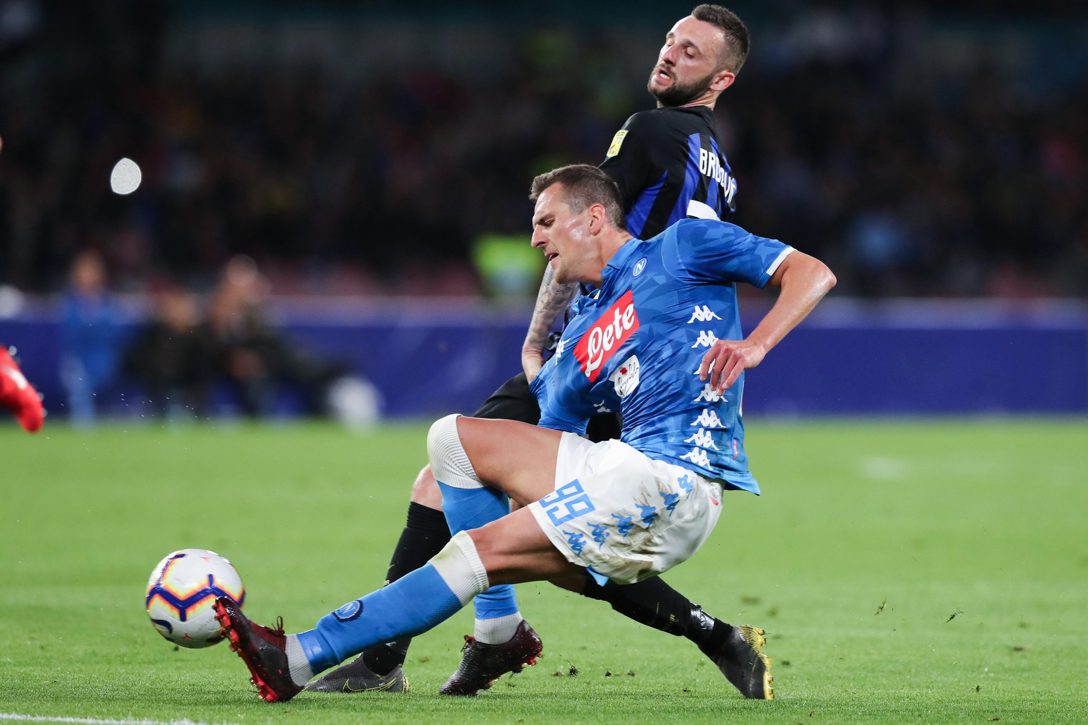 Marcelo Brozovic-Arkadiusz Milik Napoli-Inter