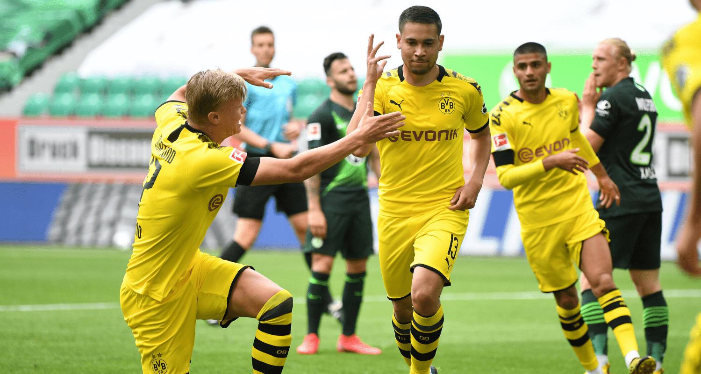 esultanza gol Raphael Guerreiro Borussia Dortmund