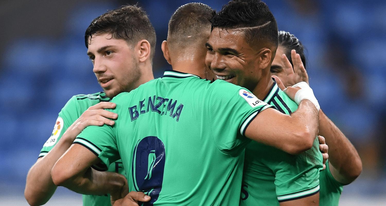 Benzema Casemiro esultanza Real Madrid
