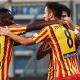 Esultanza gol Mancosu Babacar Lecce