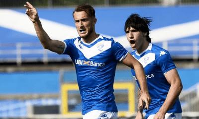 esultanza gol Alfredo Donnarumma Tonali Brescia