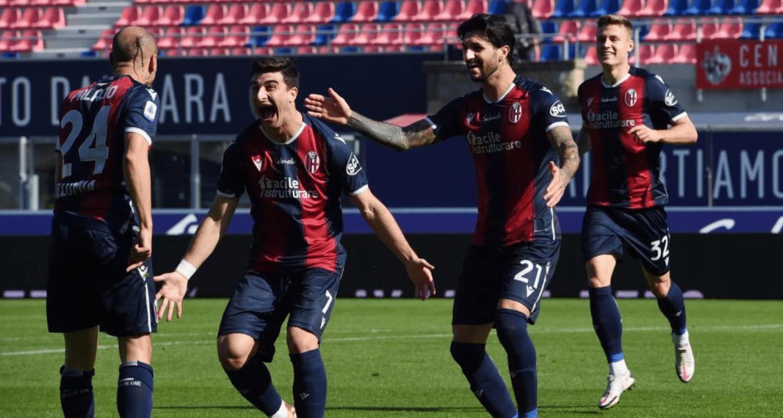 Palacio Orsolini Soriano esultanza Bologna