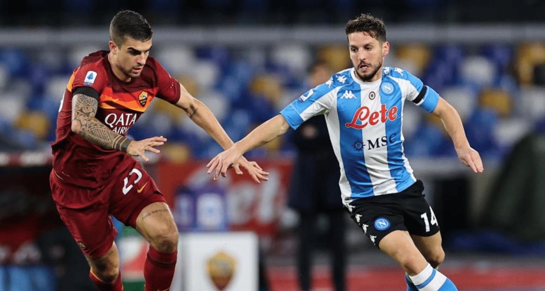 Dries Mertens-Gianluca Mancini Napoli-Roma