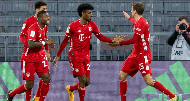 Esultanza Coman Bayern Monaco Bundesliga