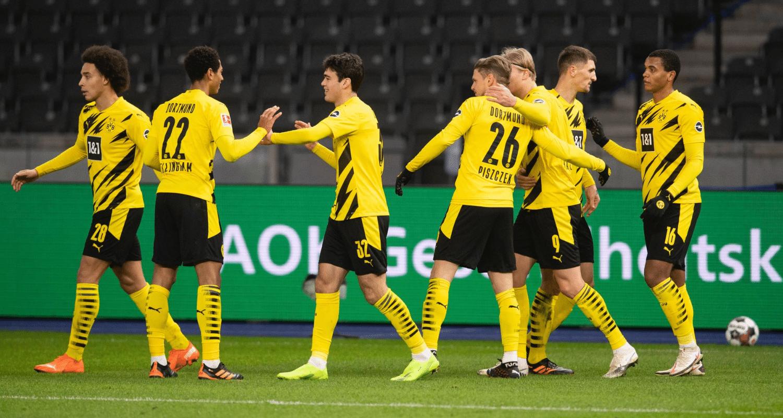 Esultanza giocatori Borussia Dortmund Bundesliga