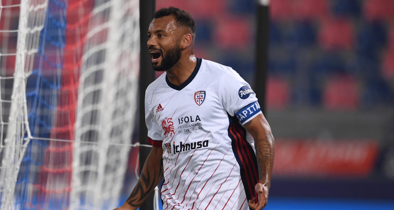 Esultanza gol Joao Pedro Cagliari