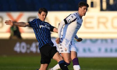 Dusan Vlahovic-Rafael Toloi Atalanta-Fiorentina
