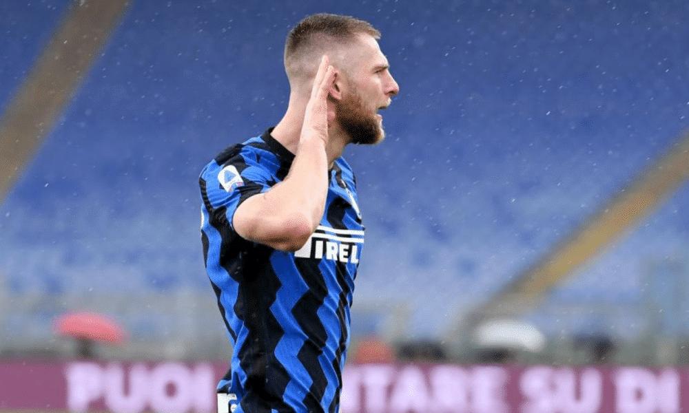 esultanza Milan Skriniar Inter