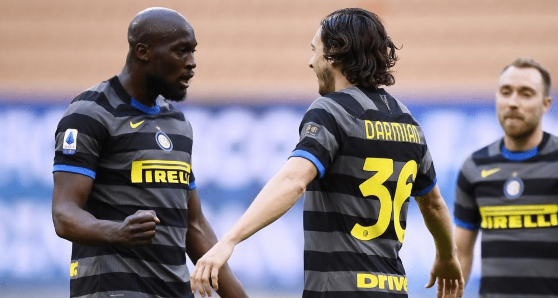 Esultanza gol Lukaku Darmian Inter