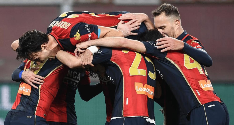 Esultanza gol giocatori Genoa