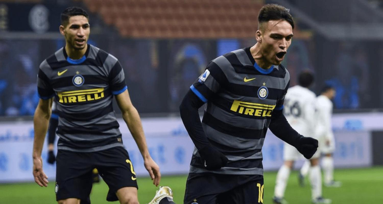 Hakimi Lautaro Martinez esultanza Inter
