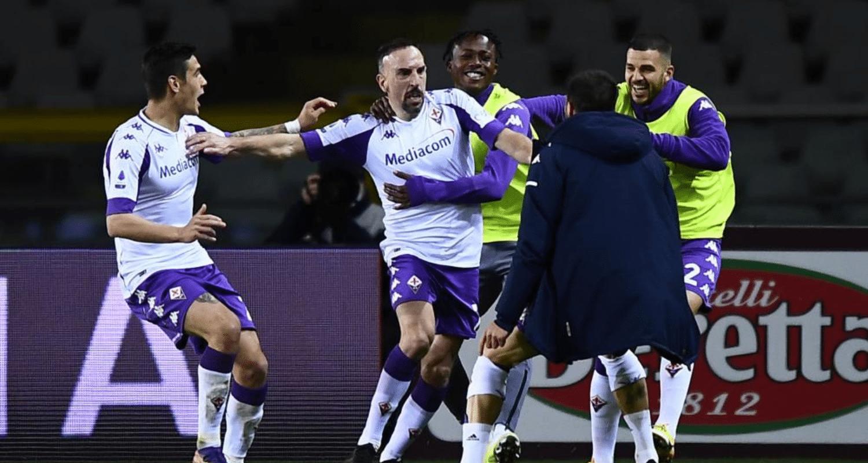 esultanza gol Franck Ribery Fiorentina