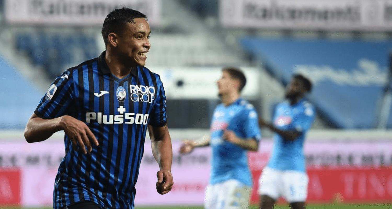 esultanza gol Luis Muriel Atalanta-Napoli