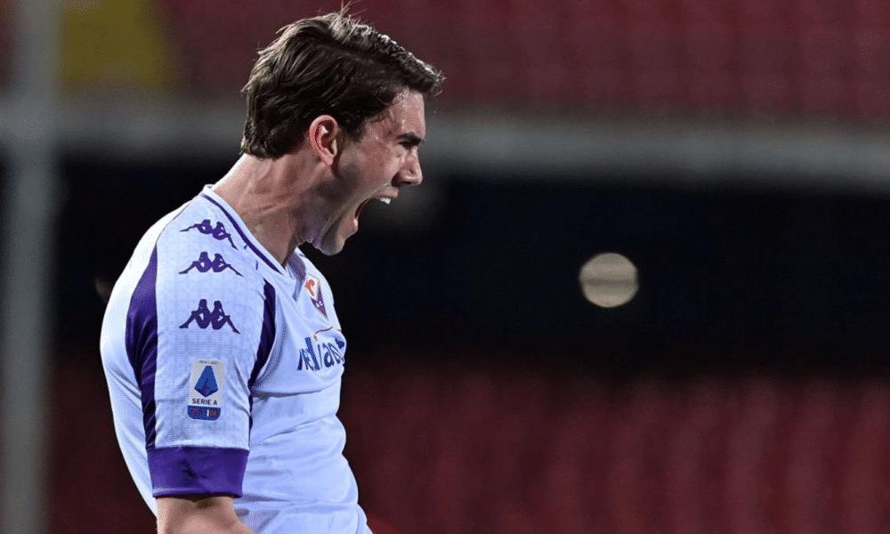 Esultanza gol Vlahovic Fiorentina