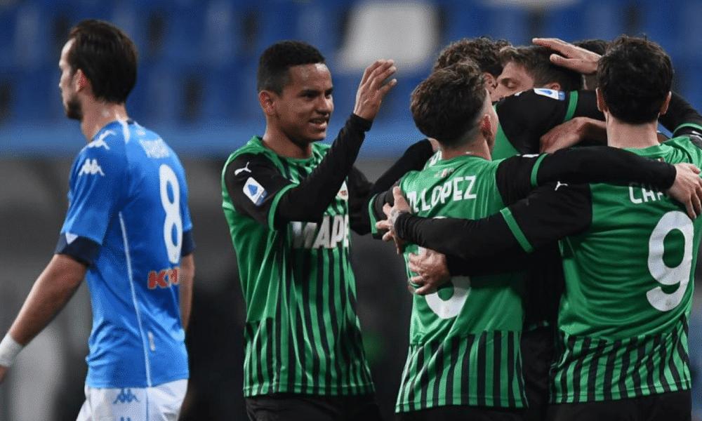 esultanza gol Domenico Berardi Sassuolo-Napoli