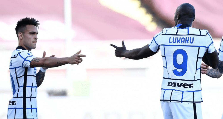 esultanza gol Romelu Lukaku Lautaro Martinez Inter