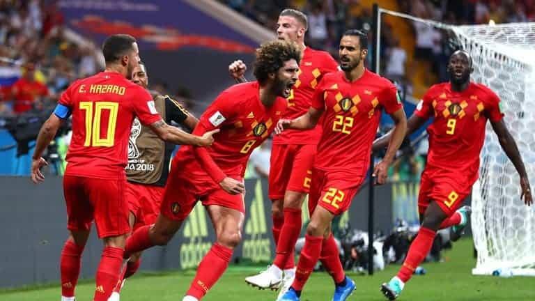 Esultanza Belgio Fellaini