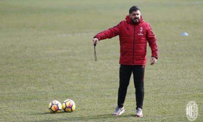 Gattuso allenamento Milan