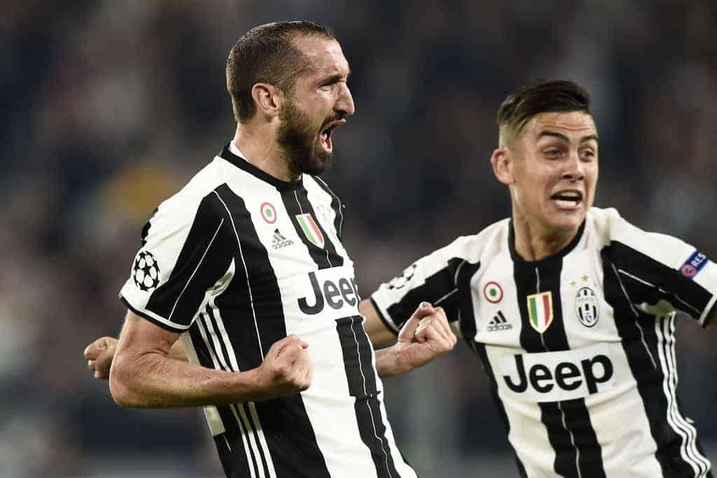 Esultanza Chiellini Juventus Barcellona