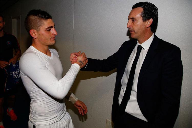 "PSG, Emery: ""Verratti e Marquinhos l'anima giovane de PSG"""